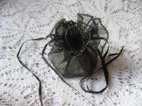 Organzos maišelis juodas 25cm, 1 vnt