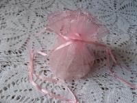 Organzos maišelis rožinis 25cm, 1 vnt