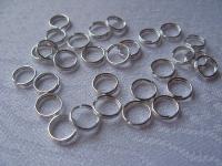 Žiedelis dvigubas sidabro spalvos 6 mm, 100 vnt