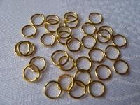 Žiedelis aukso spalvos 6mm, 100 vnt