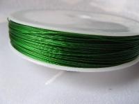7 gijų plieninis troselis žalias 0,45mm, 1m