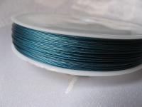 7 gijų plieninis troselis šv. mėlynas 0,45 mm, 1m