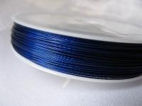 7 gijų plieninis troselis tm. mėlynas 0,45mm, 1m
