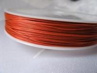 7 gijų plieninis troselis oranžinis 0,45 mm, 1m