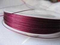 7 gijų plieninis troselis violetinis 0,45mm, 1m