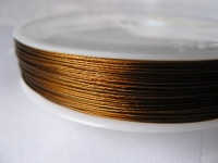 7 gijų plieninis troselis rudas 0,45 mm, 1m