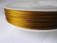 7 gijų plieninis troselis šv. aukso spalvos 0,45mm, 1m