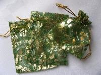 95x120 mm organzos maišelis žalias, 1vnt