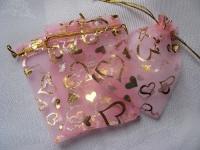 95x120 mm organzos maišelis rožinis, 1vnt