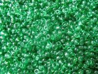 2 mm žali karoliukai, 20 g