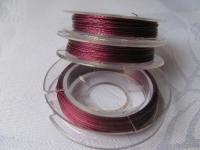 7 gijų plieninis troselis violetinis 0,38 mm, 10m