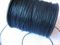 1mm vaškuota medvilninė virvelė juoda 1 metras
