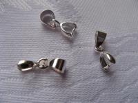 13x3,5mm detalė pakabukui, kristalui sidabruota 1 vnt