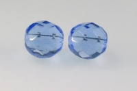 10 mm briaunotas čekiško stiklo karoliukas