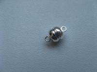 Magnetinis užsegimas sidabro spalvos 11x7 mm, 1vnt