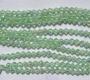 4 mm rombo formos stikl. šviesiai žalių su AB danga karoliukų juosta