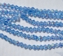 4 mm rombo formos stikl. mėlynų su AB danga karoliukų juosta