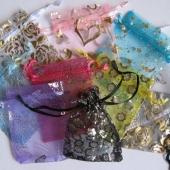 7x9cm organzos maišeliai įvairių spalvų, 5 vnt [1]
