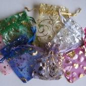 7x9cm organzos maišeliai įvairių spalvų, 5 vnt [2]